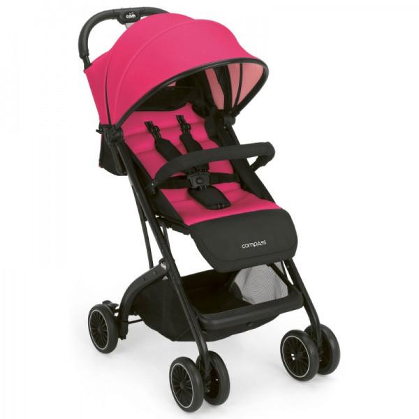 Прогулочная коляска COMPASS,  розовая