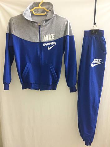 Спортивный костюм для мальчика Nike р.36-44 серый+синий, фото 2