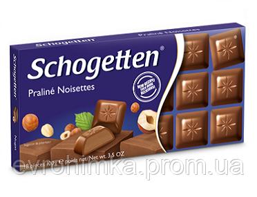 Шоколад Schogetten Praline Noisettes ( с Ореховой нугой) 100 гр
