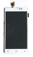 Оригинальный дисплей (модуль) + тачскрин (сенсор) для Leagoo Lead 7 (белый цвет)