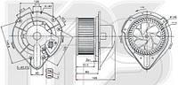 Вентилятор салона AVA FP 12 W0200