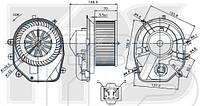 Вентилятор салона AVA FP 74 W0206