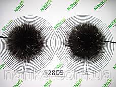 Меховой помпон Чернобурка, 12 см, пара 12809, фото 3