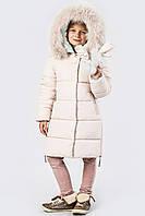 Яркая детская зимняя куртка для девочки