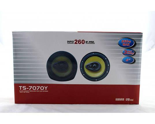 Автомобильные колонки TS 7070 260 Watt 17 см автоакустика круглая, фото 2