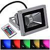 Светодиодный прожектор 10Вт RGB цветной с пультом
