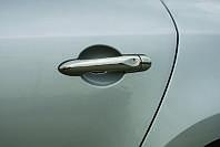 Renault Captur Накладки на дверные ручки (нерж.) 4 дверн