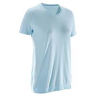 Бесшовная женская футболка для динамической йоги Domyos
