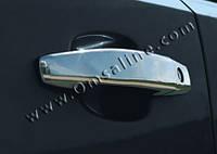 Декоративные хромированные накладки на ручки Opel Tigra (на две двери)