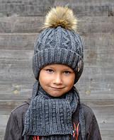 Зимняя шапка с искусств.енотом., внутри полностью на флисе.