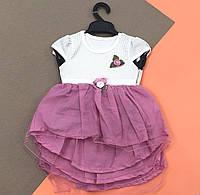Легкое платье 6-9-12 месяцев