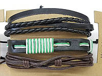 Стильные фенечки, браслет из фенечек для мужчин, комплект мужских многорядных браслетов 184