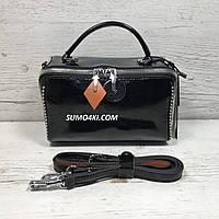 Крутая женская кожаная лаковая сумка , фото 1