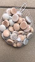 Камни для декора круглые микс молочно-бежевые d 2 см