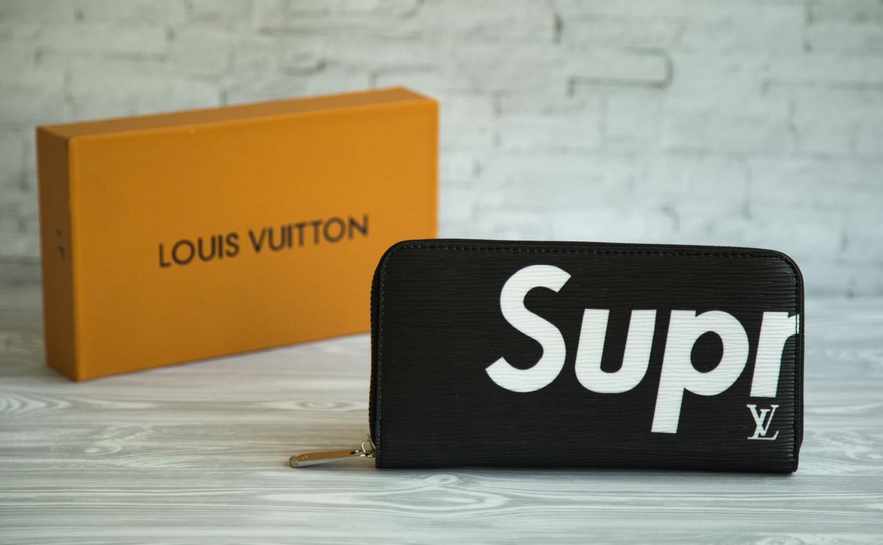 Портмоне (кошелек, клатч) Supreme - Louis Vuitton Суприм - Луи Виттон чёрный  ( 94cba3b851f
