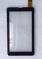 Оригинальный тачскрин / сенсор (сенсорное стекло) для Globex GU7016C (черный цвет, самоклейка)