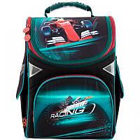 Ранец (рюкзак) - каркасный школьныйдля мальчика - Машина Гонки,GO18-5001S-14