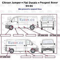 Арка задняя Citroen Jumper, Fiat Ducato, Peugeot Boxer (94-01) длинная база - левая