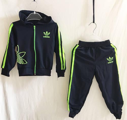 577daf8b Спортивный костюм для мальчика Adidas р.20-28 черный+салатовый ...