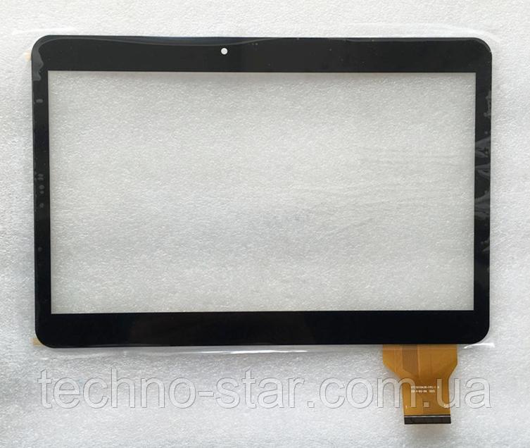 Тачскрин / сенсор (сенсорное стекло) для RoverPad Tesla 10.1 (черный цвет, самоклейка)