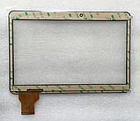 Тачскрин / сенсор (сенсорное стекло) для RoverPad Tesla 10.1 (черный цвет, самоклейка), фото 2