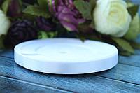 Атласная лента 0.9 см, 36 ярд (около 33 м), белого цвета оптом SD
