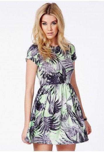 Новое короткое платье в тропический принт Missguided