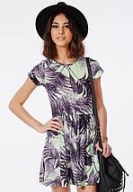 Новое короткое платье в тропический принт Missguided, фото 3