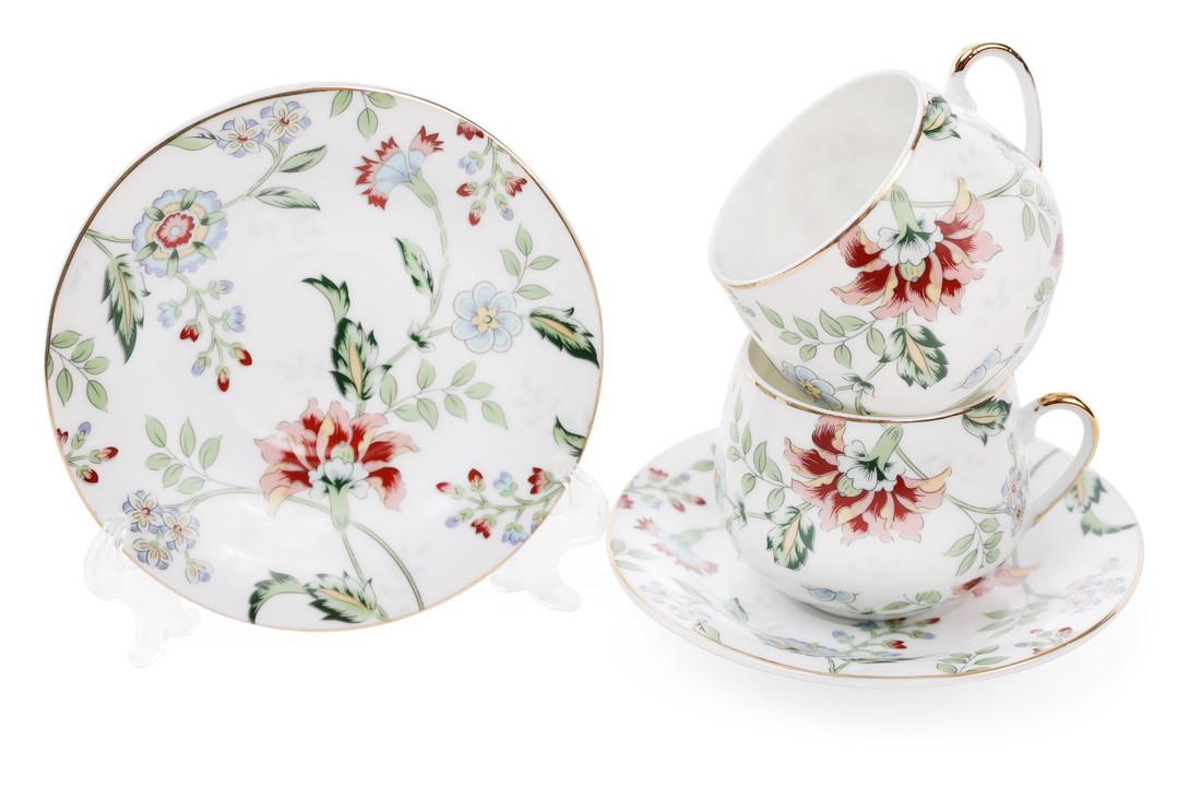 Набор кофейный фарфоровый Альпийский сад: 2 чашки 125мл, 2 блюдца