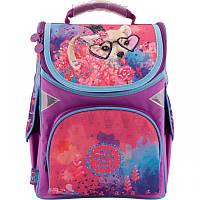 Ранец (рюкзак) - каркасный школьныйдля девочки - Собачка, стильный нежная акварель,GO18-5001S-6