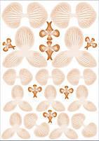 Вафельные картинки для вафельной флористики орхидея оранж