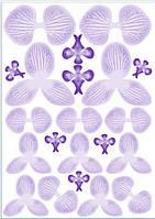 Вафельные картинки для вафельной флористики орхидея фиолетовая