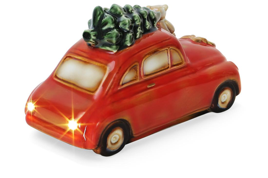 Декор новогодний фарфоровый Машина с LED-подсветкой