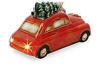 Декор новогодний фарфоровый Машина с LED-подсветкой, фото 1