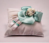 Свадебная подушечка для колец цвета тиффани