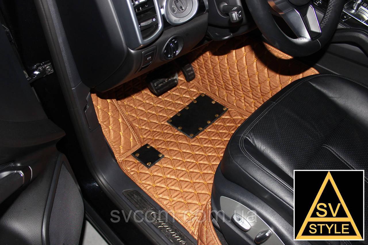 3D Коврики Range Rover SportКожаные (кузов №1 / 2005-2013) Рыжие