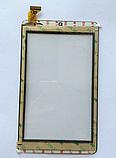 Оригинальный тачскрин / сенсор (сенсорное стекло) для Digma Optima 7301 TS7057AW (черный цвет, самоклейка), фото 2