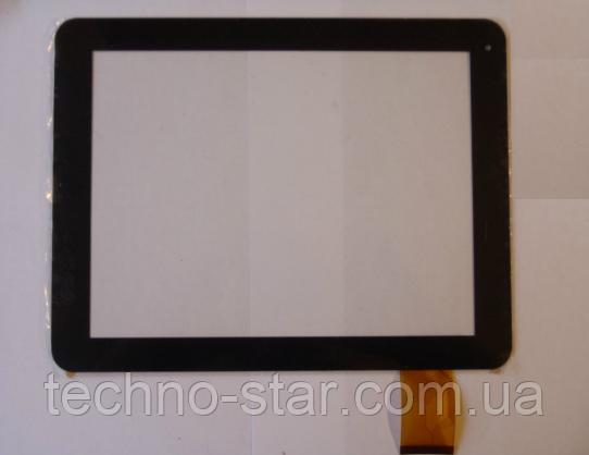 Оригинальный тачскрин / сенсор (сенсорное стекло) для Hyunday H-SP9701G (черный цвет, самоклейка)