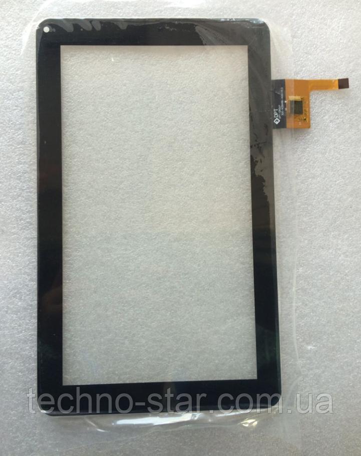 Оригинальный тачскрин / сенсор (сенсорное стекло) для GoClever Tab 9300 | A93.2 (черный цвет, самоклейка)