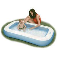 Детский надувной бассейн прямоугольный