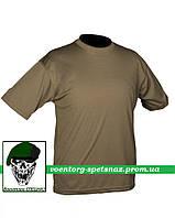 Футболка потоотводящая быстросохнущая армейская кулмакс олива (coolmax olive)