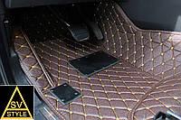 Коврики PorscheCayenne Кожаные 3D (кузов №2 / 2010+) Кофейные, фото 1
