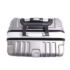 Чемодан BagHouse пластиковый 4 колеса 47х66х32 цвет серый кс801бтсер, фото 3