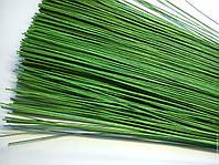 Проволка флористическая в обмотке зеленая  №26