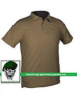 Тактическая футболка-поло темный койот  (dark coyote)
