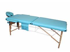 Деревянный 2-х сегментный стол для массажа бирюзовый FIT (Польша)