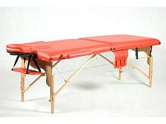 Деревянный 2-х сегментный стол для массажа красный FIT (Польша)