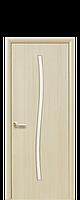 Міжкімнатні двері Гармонія Екошпон зі склом сатин, колір ясен