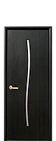 Межкомнатная дверь  Гармония Экошпон со стеклом сатин, цвет венге браун