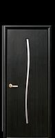 Межкомнатные двери Новый стиль экошпон Гармония со стеклом сатин цвет Венге brown